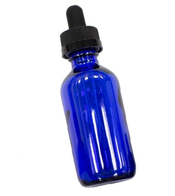 Dropper bottle without labels to highlight our white labeling offering for cannabis extracts