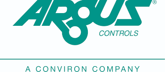 Argus Controls text logo with tagline a conviron company