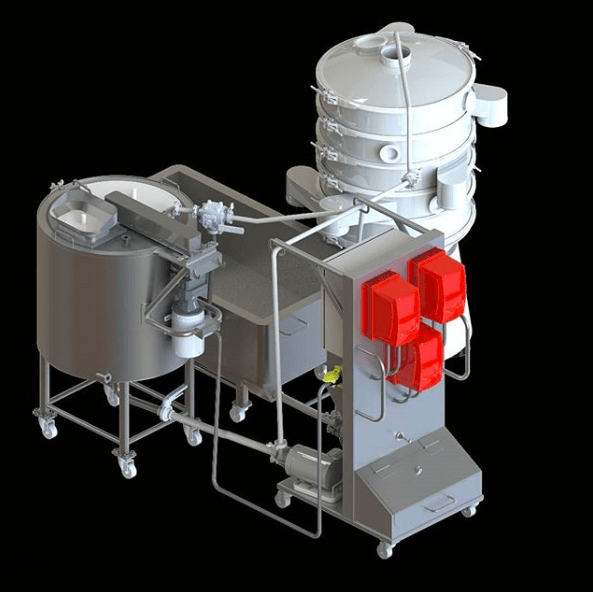 Valens Agritech Solventless extraction equipment rendering from Whistler Technologies